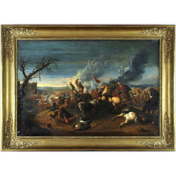 Cavalry Attack on the Turks, 18th century, oil on canvas
