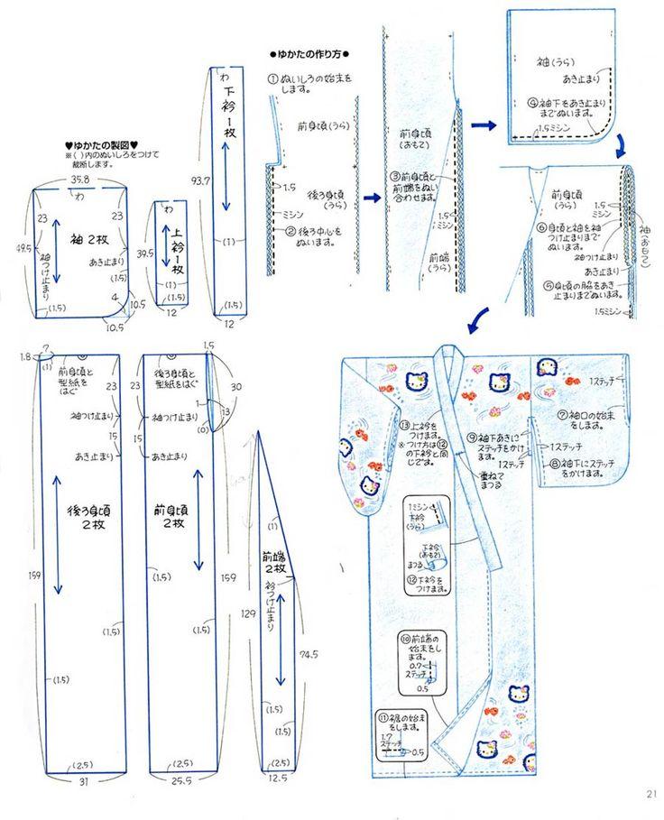 Tutorial CONFECCIÓN DE UN KIMONO http://www.lavidaencosplay.com/2014/05/como-hacer-un-kimono-100-japones.html