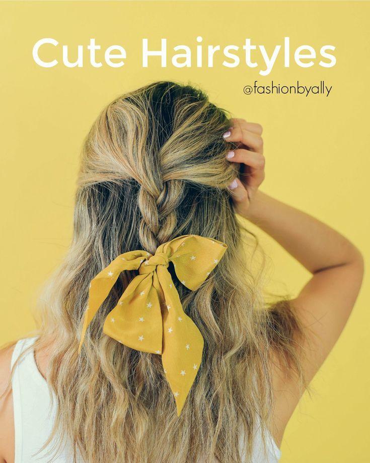 Hair Types For Faculty #Madewell Bandana Hairstyles, Half Up Half Down Wavy Hair…