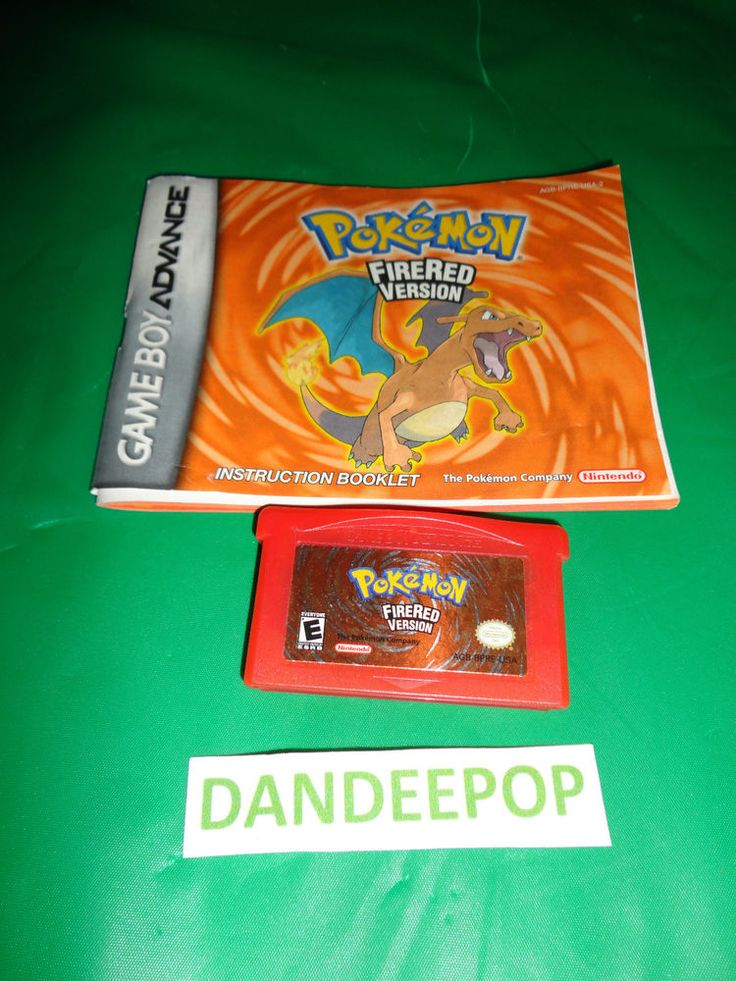Nintendo Game Boy Advance Video Game Pokemon FireRed  find me at www.dandeepop.com