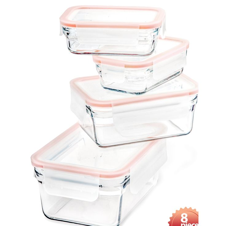 Glasslock Rimless 4 Container Food Storage Set