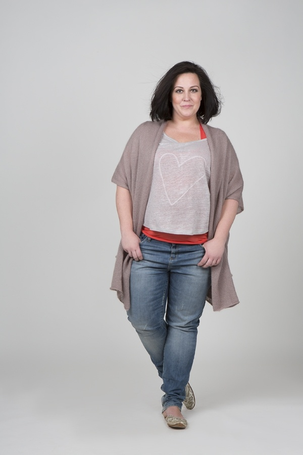 Shirt Tess hart opdruk/ linnen trico::shirts::Grote maten mode   Bagoes fashion   grote maten mode online