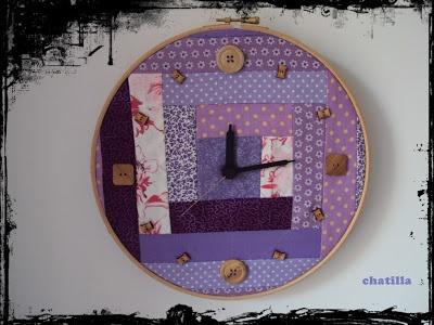CHATILLA: reloj de patchwork!!!!!!!