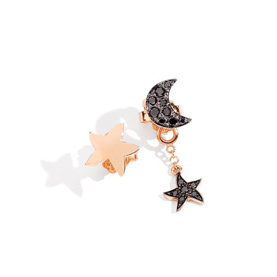 This winter sparkle with Dodo rose gold Starfish and earrings Jacket in rose gold and black diamonds.