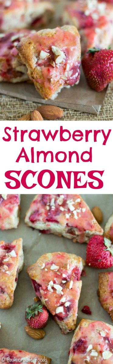 Soft and delicately sweet, these scones are addicting! Serve these gluten-free strawberry almond scones with tea or coffee for a delicious breakfast treat.