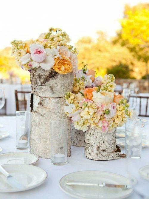 Epic Kreative Ideen zum Selbermachen Besorgen Sie sich einen Baumstumpf und formen Sie ihn in Form einer Vase indem Sie sein Inneres entfernen und