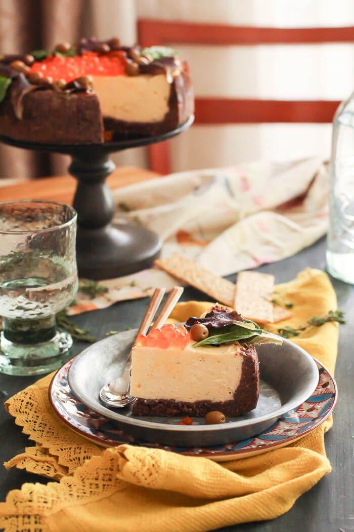 Cheesecake de salmón ahumado