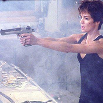 Nikita played by Anne Parillaud in La Femme Nikita (1990)