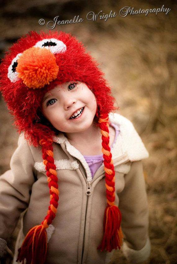 Fuzzy earflap Hat crochet pattern fashioned by FromHandToHeart, $3.00