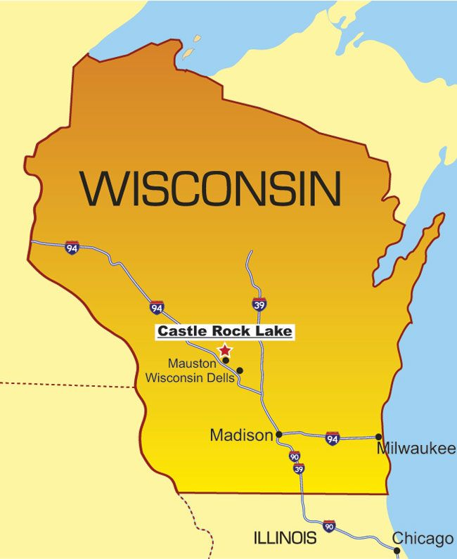 Travel Map Of Wisconsin Tidal Treasures - Maps of wisconsin
