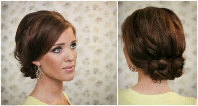 The Easy Knotted Updo. The explanation sounds confusing but the step-by-step photos help!