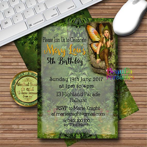 Birthday Party Invitations Butterfly Fairy Invitation Girl