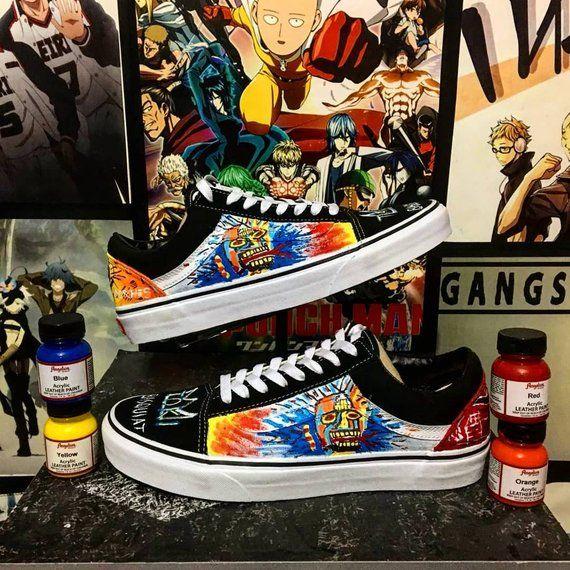 Custom vans old skool,basquiat,art,custom sneakers , custom