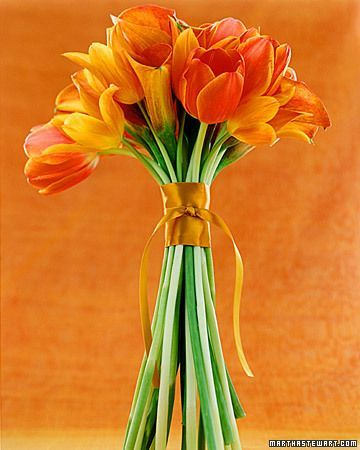 Orange flower bundle