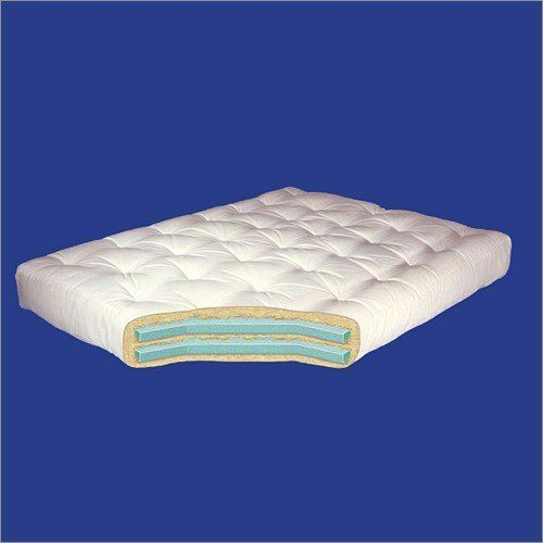 "Lounger Ottoman Gold Bond 8"" Double Foam Futon Mattress by Gold Bond. $99.00. Futon mattress in soft white color. Two solid pieces of 1.5"" foam for supreme resiliency and cushioning. 40 lbs. of dense JOY cotton batting surrounding foam layers. The 8"" Double Foam Futon Mattress Features: Futon mattress in soft white colorTwo solid pieces of 1.5"" foam for supreme resiliency and cushioning40 lbs. of dense JOY cotton batting surrounding foam layersFoam layers and cotton batting come..."