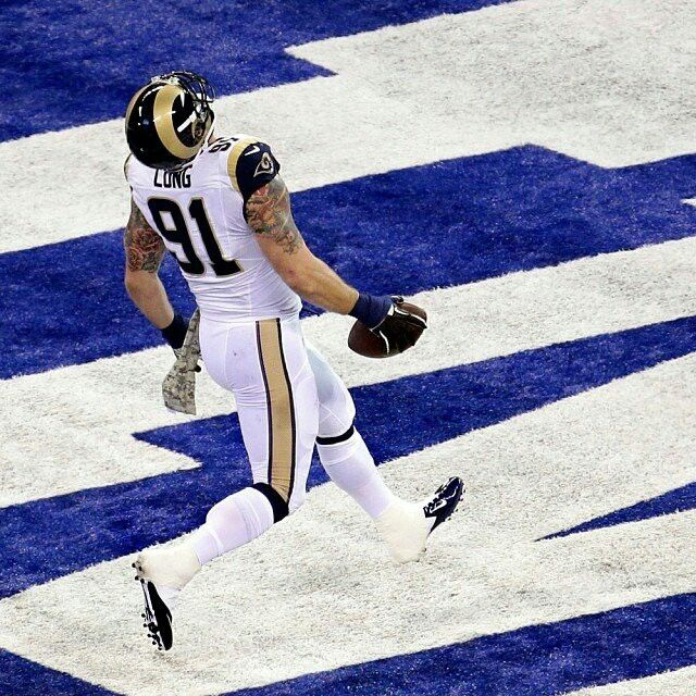 43e38102a ... Rams Chris Long Jersey NFL St Louis sz 2XL Touchdown Chris Long!