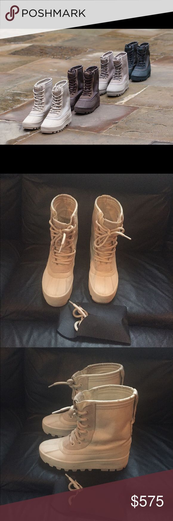 ADIDAS  YEEZY BOOST 950 BOOT AUTHENTIC Adidas YEEZY BOOST 950 BOOT ... Size:5.5 [Worn Twice].... (Extra Laces Included)Color:Moonrock...[Make An Offer]🅿️🅿️ Yeezy Shoes Lace Up Boots
