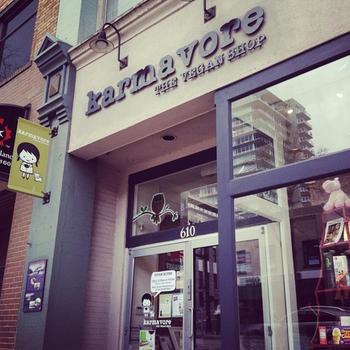 New Westminster's Karmavore Vegan Shop celebrating third anniversary. Photo by Stephen Hui.