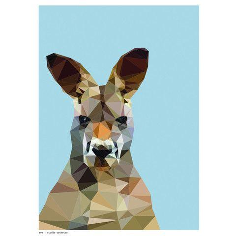 roo art print – studio cockatoo