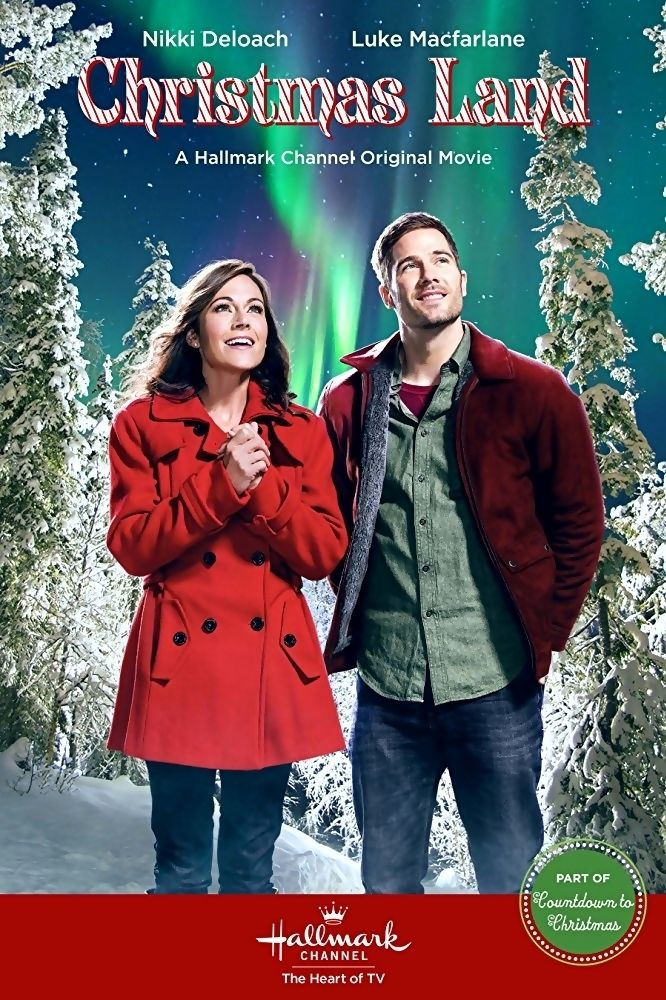 Christmas Land is a 2015 Hallmark Channel Original Movie starring Nikki DeLoach, Luke Macfarlane, Maureen McCormick, Cynthia Gibb, Richard Karn and Chonda Pierce. Plot: After inheriting a Christmas tree farm, a woman's plans to sell it change when she falls in love with the townspeople and meets a charming lawyer named Tucker. Genre: Romance, Drama.