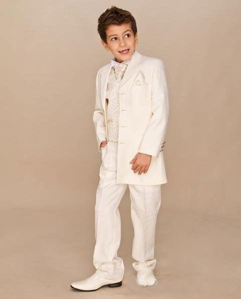 Custom Suit Boys Ivory 4 piece Suit Boy Wedding Suits Boy Tuxedo (Jacket+Pants+Vest+tie) Boys Dress suit Free Shipping ZY3465