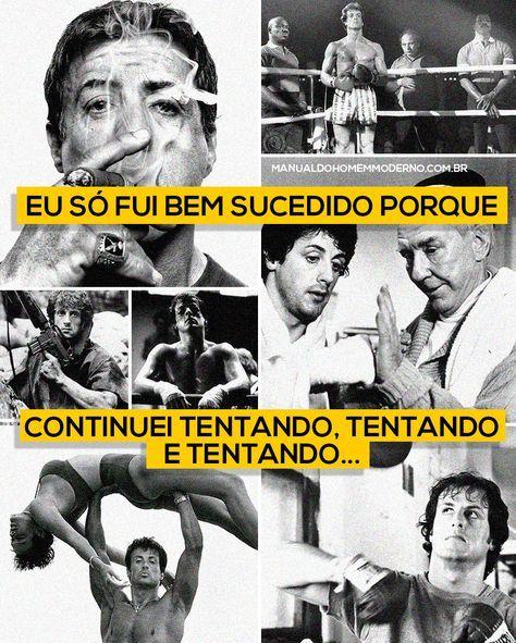 Lições de vida com Sylvester Stallone.