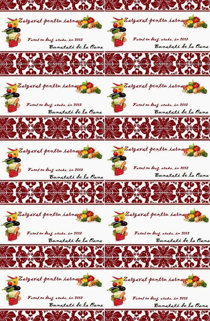 Etichete borcane - zarzavat pentru iarna