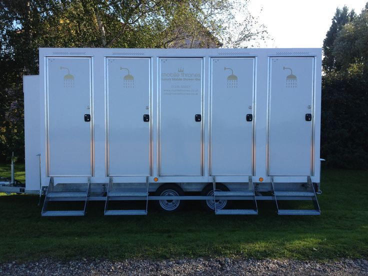 Our beautiful new shower units.  Perfect for private parties, sleep over events, weddings, festivals and sporting events!