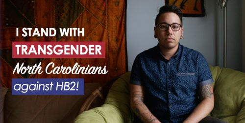 TODAY in North Carolina there's a hearing on the anti-transgender components of HB2, the anti-LGBT law passed in the state in March. Joaquín Carcaño, a transgender man in North Carolina, is one of the plaintiffs in the case, filed by Lambda Legal,...