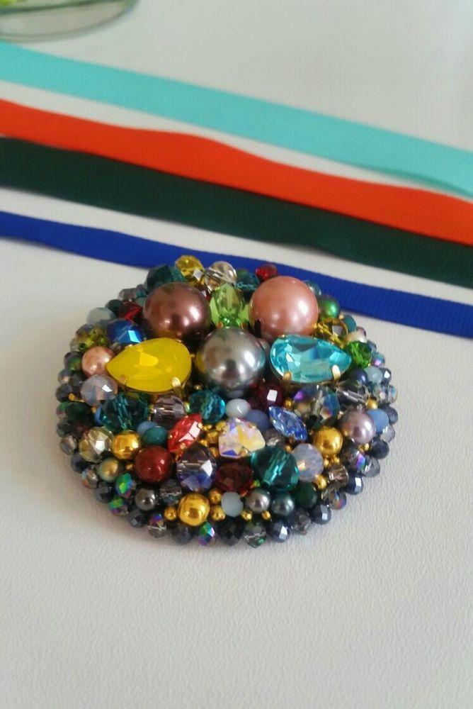 Brooch, made by jekatera accessories #Handmadejekateraaccessories
