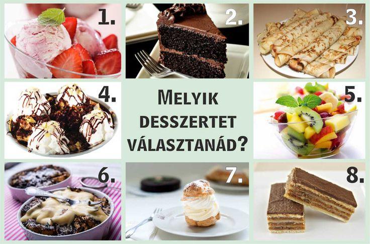 Válassz egy desszertet! Rengeteg dolgot elárul rólad! - Zöld Újság