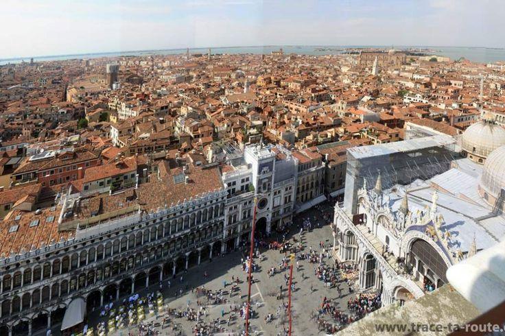 Vue depuis le Campanile Saint Marc : Venise, la place Saint Marc et la Basilique Saint Marc - Blog Voyage Trace Ta Route