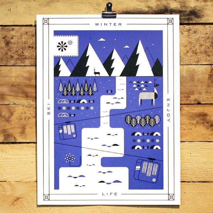 Winter Poster by Martin Azambuja   HOLSTEE