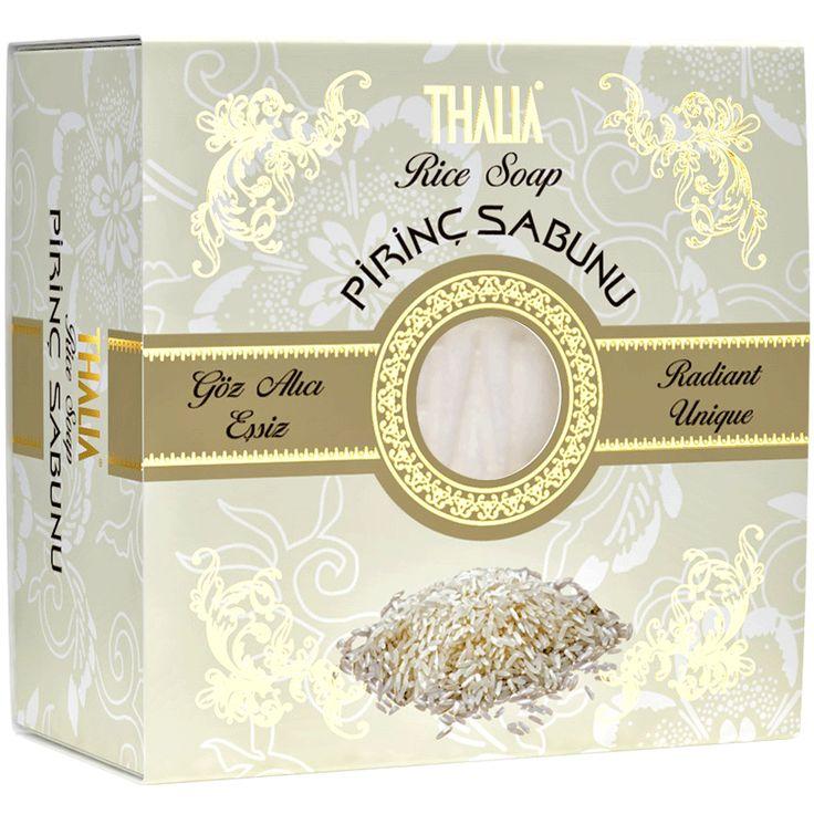 Thalia Doğal Pirinç Proteinli Sabun içeriğindeki pirinç proteini ile cildi güzelleştirir ve cilde sadelik kazandırır. Cilt üzerindeki fazla yağların temizlenmesine ve cildinize bakım yapılmasına yardımcı olur. #sabun #thaliasabun #thalia #katısabun #cilt #ciltbakım #doğal #parabeniçermez #sabunlar #ciltbeyezlatıcı #prinçsabun