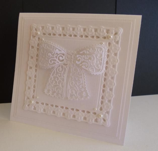 Tattered Lace Bow by sistersandie - Cards and Paper Crafts at Splitcoaststampers