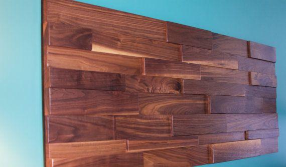 The Juliana Walnut wall mount headboard, reclaimed walnut wall art, reclaimed walnut headboard