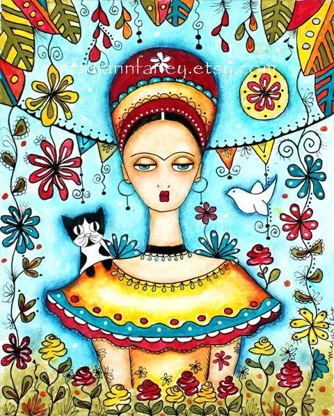 Frida Kahlo Art Print by maryannfarley, $20.00 #art #print #frida