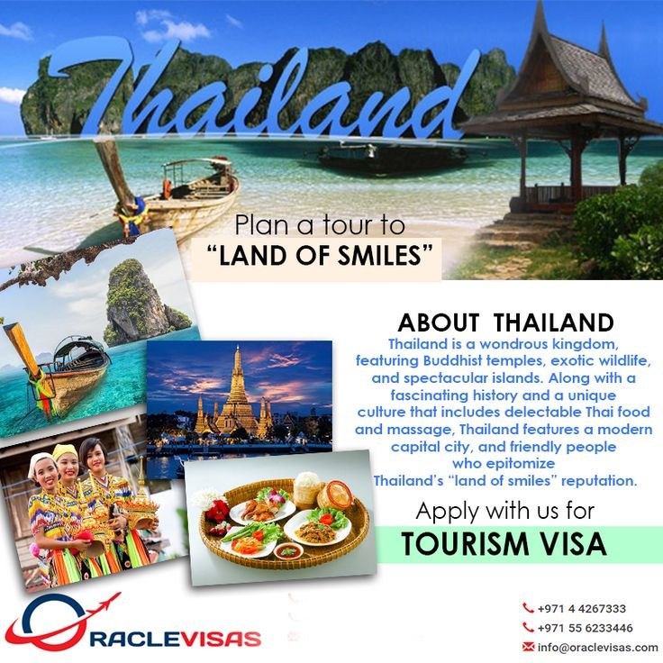 Enjoy this summer in @Thailand, get tourism visa. Consult with us today. http://www.oraclevisas.com