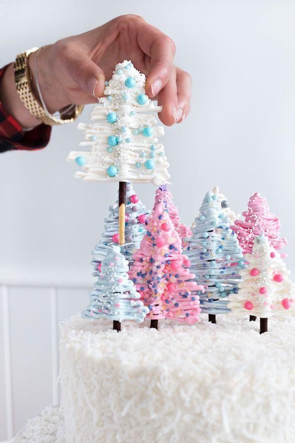 DIY-Wintermärchenland-Kuchenkrümel zum Frühstück. Hausgemachte Weihnachtskuchen # …, DIY Winter Wonderland Kuchen zum Frühstück zerbröckeln. Selbst gemachter Weihnachtskuchen   – Backen