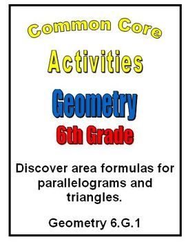 Students use hands on activities to discover the formulas for area of a parallelogram and area of a triangle!