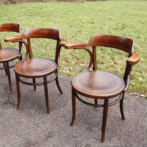 Fischel Bentwood Chairs A Set Of 12 All C1920 Andrew Nebbett Antiques Fischel Thonet