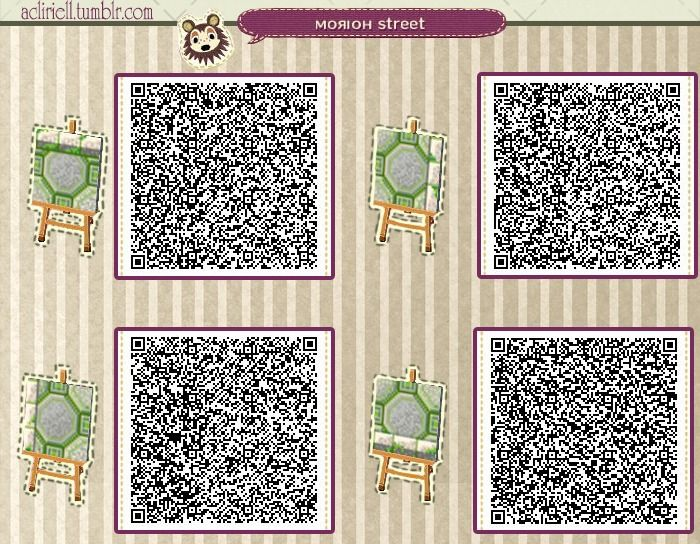 "Animal Crossing: New Leaf QR Code Paths Pattern, acliriell: ""Morioh Street"" More pics with the..."