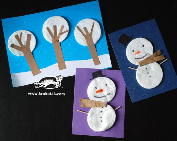 Snowman and snow scenery – decoration for small kids