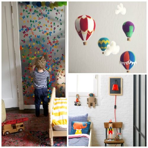 10 DIY Projects For Your Kid's Room: Decor Home Kids Furniture, 10 Diy, Kids Rooms Th, Kid Rooms, Hot Air Balloons, Kids Rooms Diy Decor, Kids Decor, Diy Projects, Rooms Kids
