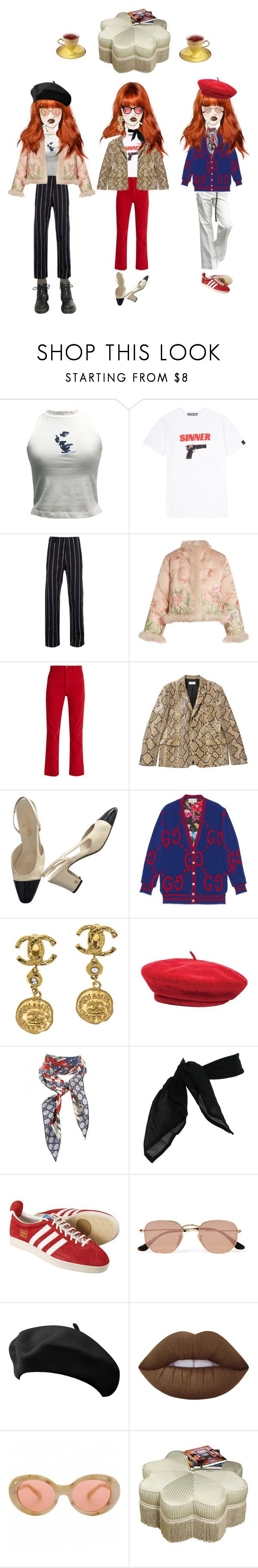"""""""travel series#30"""" by oceanelaurent ❤ liked on Polyvore featuring Ted Baker, Hyein Seo, Uma Wang, Dr. Martens, Alexander McQueen, Bliss and Mischief, Yves Saint Laurent, Chanel, Banana Republic and Gucci"""