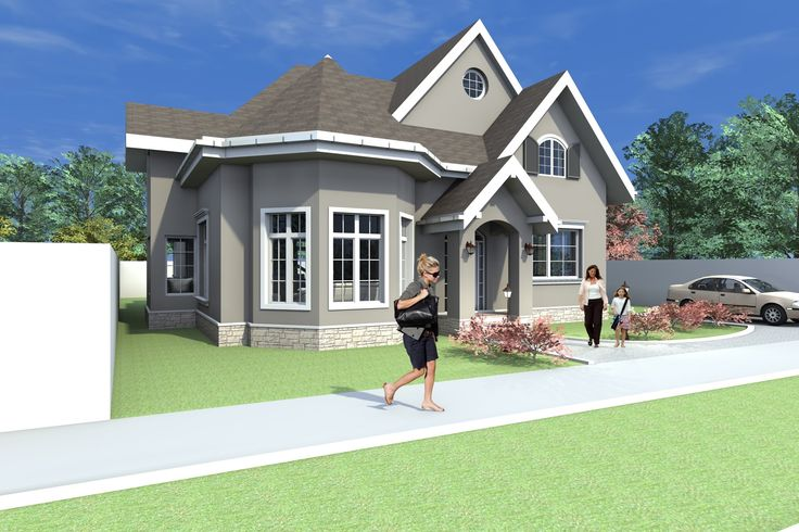 Imagini Casa B68 Proiect casa tip american cu mansarda