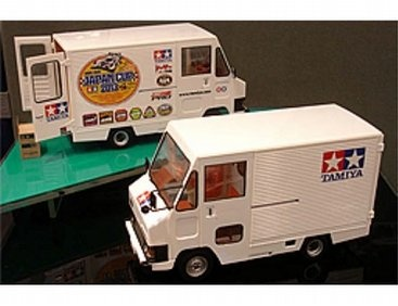 The Tamiya Toyota Hiace Tamiya Delivery Truck Model Kit in 1/24 scale from the plastic truck model kits range accurately recreates the real life Japanese delivery truck.