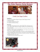 Candy Cane Sugar Cookie Recipe | Christmas Recipes for a Polar Express Party https://www.teachervision.com/recipes/printable/75597.html