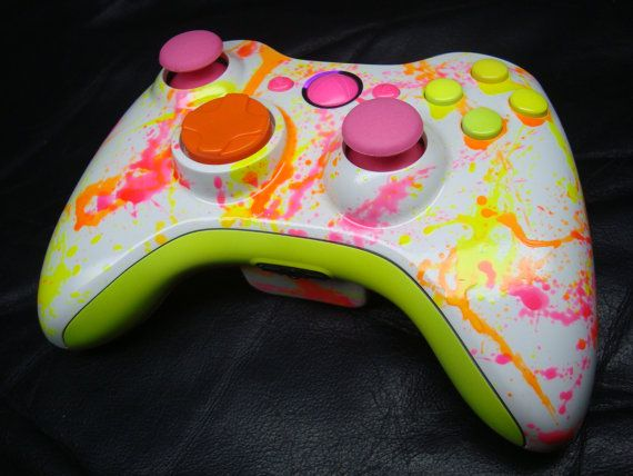 Neon Paint Ball Custom Xbox 360 Controller by ProModz by ProModz, $169.00. @Dakota Gregory