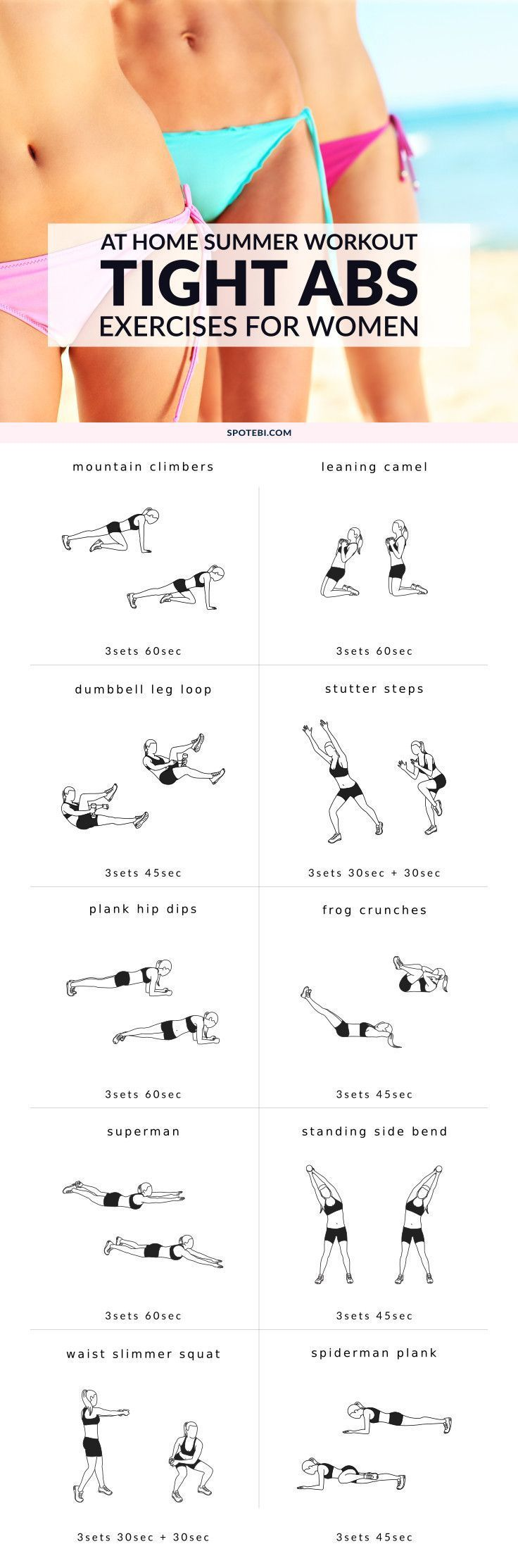 Get a flat, toned stomach and snap into shape with this bikini body tight tummy workout. 10 core-strengthening moves to help you sculpt sexy curves and say goodbye to shapewear for good. Slim, strong tummy here we come! www.spotebi.com/...